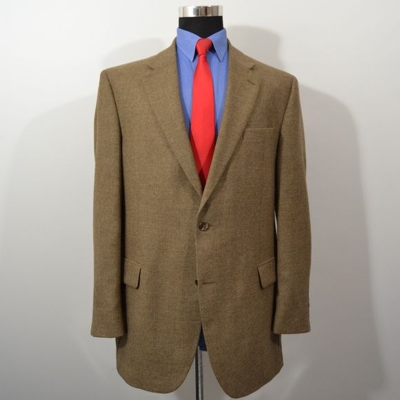 Jos. A. Bank Other - Jos A Bank 43L Sport Coat Blazer Suit Brown Wool S